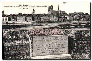 Old Postcard Orleans Commemorative Plaque From I & # 39Entree De Jeanne D & #...