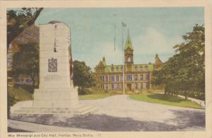 War Memorial and City Hall, Halifax, Nova Scotia, Canada, PU-1949