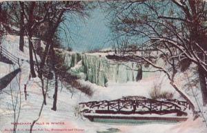 Minnehaha Falls In Winter Minneapolis Minnesota And Chicago Illinois