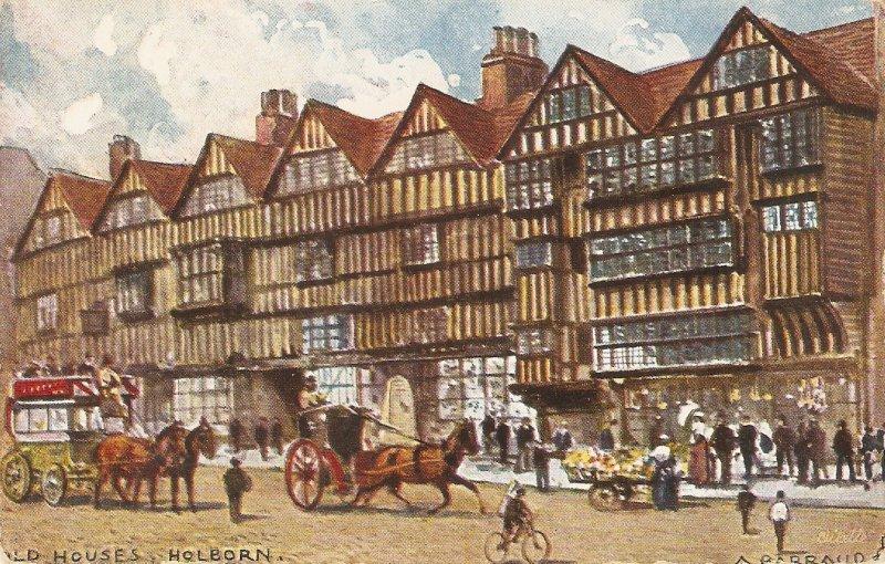 A.F.Barraud.London. Holborn.. Horses in street Tuck London Ser.PC # 769