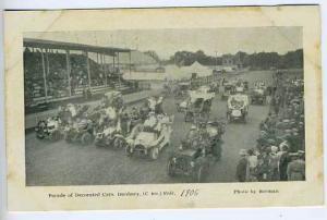 Danbury CT Fairgrounds Car Auto Parade Postcard