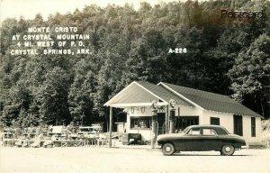 AR, Crystal Springs, Arkansas, Monte Cristo, Crystal Mountain, Gas Pump, RPPC