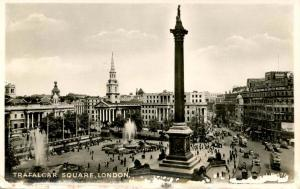 UK - England, London. Trafalgar Square   *RPPC
