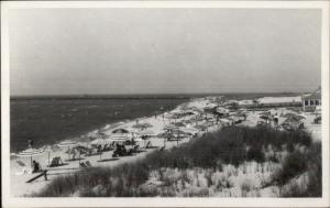 Cape Cod? Beach Scene Real Photo Postcard