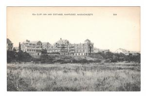 Sea Cliff Inn and Cottages Nantucket MA Vintage American Art Postcard
