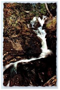 Postcard Little Falls, Jackman, Maine water stream river A18