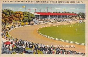 New Grandstand & Race Track on York Fair Ground York, Pennsylvania, PA, USA H...