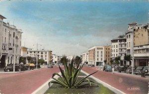 RPPC RABAT Le Cours Lyautey Morocco Le Cigogne c1940s Vintage Postcard
