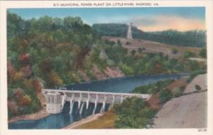 Virginia Radford Municipal Power Plant On Little River