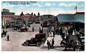 Maine Old Orchard Beach  Old Orchard street from R.R. Station