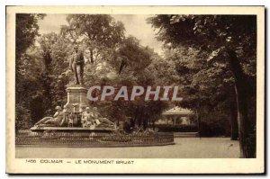 Old Postcard Colmar The Bruat Monument