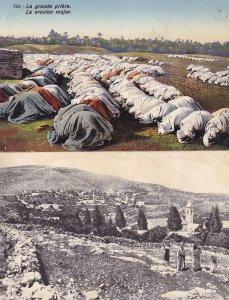 Mount Of Olives at Winter Grand Prayer La Grande Priere Isreal 2x Postcard s