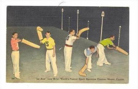 Men Do Jai Alai Sport, Miami, Florida, 30-40s