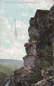 CUMBERLAND, Maryland, PU-1908; Lover's Leap
