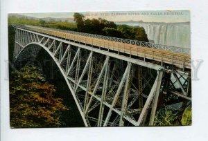 426341 Zimbabwe RHODESIA Zambesi river bridge Vintage postcard