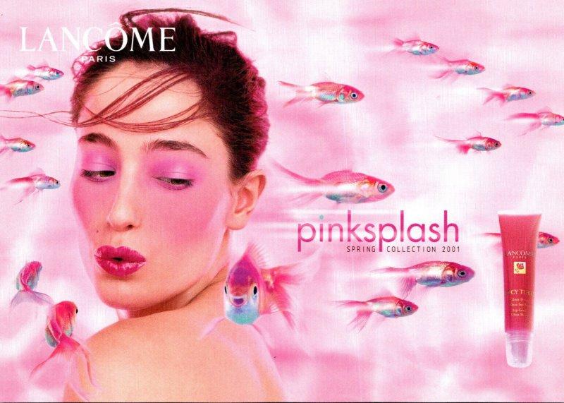 Advertising Lancome Paris Pinksplash Spring Collection 2001