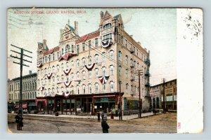 Grand Rapids MI, Morton House, Michigan, Vintage Postcard