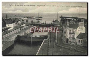 Postcard Old St Nazaire New Perspective Entree locks and the & # 39avant harb...