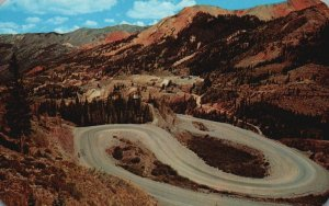 Red Mountain Pass, CO, Hairpin Turns, U.S. 550, Chrome Vintage Postcard g8388