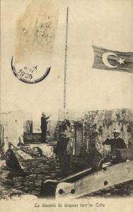greece, CRETE, Lowering the Turkish Flag in 1898 (1905)