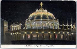 Salt Palace exterior view at night, Salt Lake City