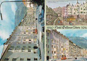 Hotel Goldener Stern In WW2 1940 Painting Innsbruck Austria 2x Postcard