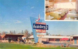 Jackson Mississippi Heidelberg Jr Motel Courts Vintage Postcard AA16710