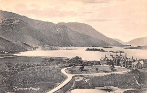 Scotland, UK Old Vintage Antique Post Card Glencoe House Unused