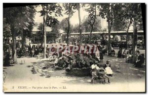 Postcard Old Vichy View taken in the Park