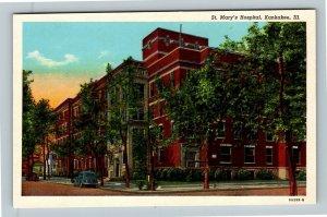 Kankakee IL, St Mary's Hospital, Chrome Illinois Postcard