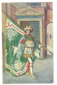 Paggi delle storiche Contrase di Siena, OCA, Page with Flag, Toscana, Italy, ...