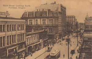 PORTLAND, Oregon, 1900-10s ; Third Street , Looking North