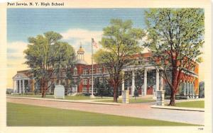 High School Port Jervis, New York Postcard