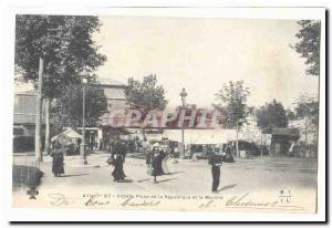 Vichy Old Postcard Place de la Republique and walking