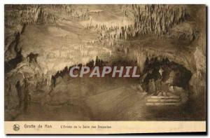 Old Postcard Han Cave L & # 39entree the room Draperies Caves