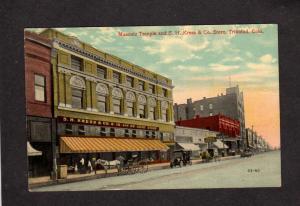 CO Masonic Temple S H Kress & Co Dept Store Theatre Trinidad Colorado Postcard