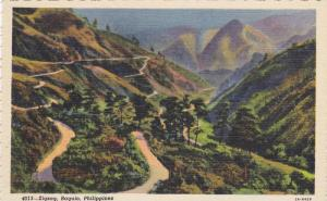 Scenic Birdseye View, Roads Weaving Through Mountains, Zigzag, Baguio, Philip...
