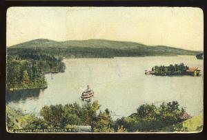 Burkehaven, New Hampshire/NH Postcard, View Of Lake Sunapee, 1907
