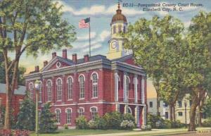 North Carolina Elizabeth City Pasquotank County Court House Curteich