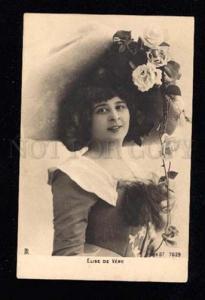 015983 Elise de VERE French OPERA Soprano SINGER vintage PHOTO