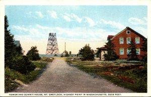 Massachusetts Mt Greylock Tower and Summit House Curteich