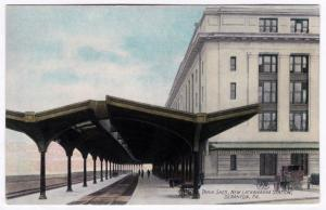 1907-15 Scranton PA Train Shed New Lackawanna Railroad Station RR RARE Postcard