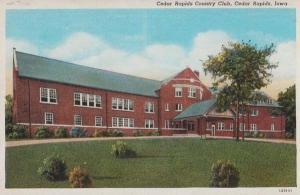 Cedar Rapids Country Club Iowa USA Antique Postcard
