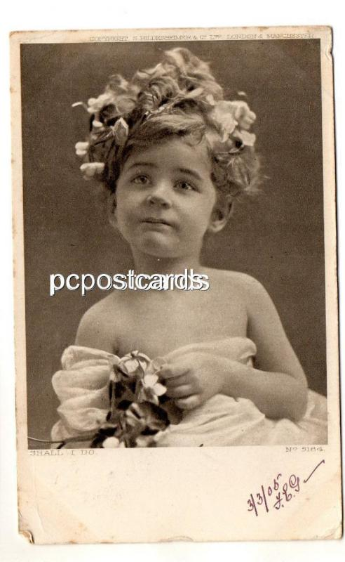 Eight Postcards of Children - Posted Miss J Smurthwaite 41 Alma Sq St Johns Wood
