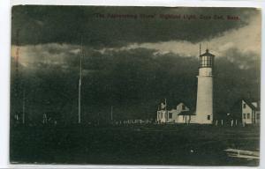 Approaching Storm Highland Lighthouse Cape Cod Massachusetts 1912 postcard