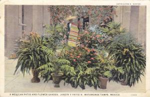 A Mexican Patio and flower garden, Matamoros, Tamaulipas, Mexico, PU-1929