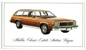 1976 Chevy Malibu Classic Estate Station Wagon Postcard