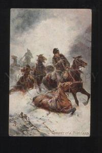 076214 RUSSIA Life HORSE Caught in Blizzard Vintage TUCK Publ.