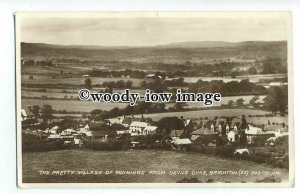 tq1092 - Looking across the Village of Poynings,  from Devils Dyke - postcard