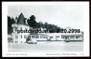 2998 - ROUTHIERVILLE Quebec 1950s Hotel de la Montagne. Real Photo Postcard